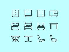 Furniture icons 2 / Jonatan Castro