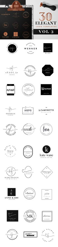Explore over logo templates including badges, icons, and other elements for creating unique, feminine, and modern logos. Web Design, Blog Design, Logo Design Inspiration, Logo Branding, Branding Design, Logo Design Samples, Lashes Logo, Clothing Logo, Tattoo Fonts