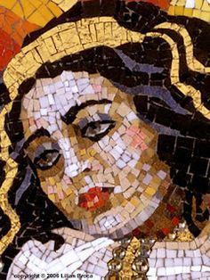 art in mosaic: Quenn Esther_Lilian Broca