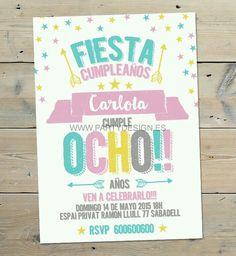 Birthday Pins, Girl Birthday, Invitation Cards, Invitations, Ideas Para Fiestas, Home Interior, Party Time, Birthdays, Bullet Journal
