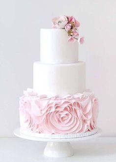 Wedding cake idea; Featured Cake: Sugarlips Cakes