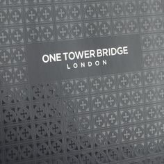 one tower bridge Spot UV Print on grey