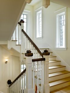 Merveilleux Down Post Arts U0026 Crafts Are Carried Throughout The Staircase, Landing And  Interior Spaces Of This New Shingle Style Home By Smith U0026 Vansant  Architects.