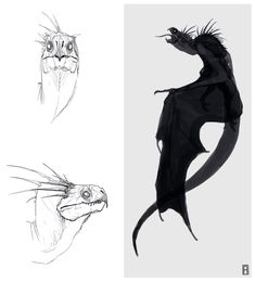 dragon concept by Alexander Ostrowski on ArtStation. Alien Concept Art, Creature Concept Art, Creature Design, Dragon Anatomy, Dragon Sketch, Dragon Artwork, Creature Drawings, Dragon Design, Monster Art