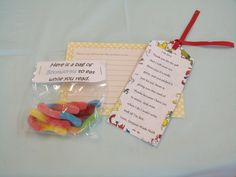Story book themed baby shower favor. Book worms and bookmarks.