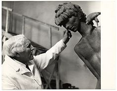 Carl Milles with sculpture, ca. from the Carl Milles papers, Archives Of American Art, William Butler Yeats, Red Houses, Carl Larsson, Sweden, Studios, Branding, Culture, Artists