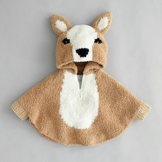 Baby poncho hert breipakket - Wolplein.nl