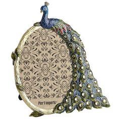 Enameled Peacock Frame