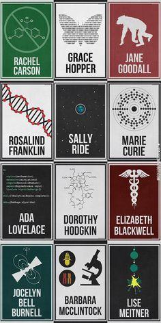 Minimalist Posters of Trailblazing Women in Science [Hydrogene Portfolio]