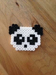 Panda  perler beads by MyriamRebel