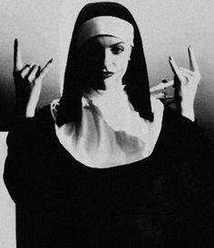 "mysticalkingdomobservation:  ""A ""SATANIC"" NUN ! SERVANT OF ""SATAN"" """