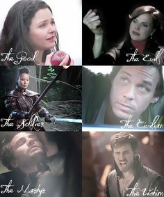 Snow White, Evil Queen, Mulan, Baelfire, Huntsman, Captain Hook - Once Upon a Time
