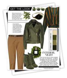 """""""Green Leather"""" by lepa-bobi ❤ liked on Polyvore featuring GALA, Maison Scotch, Y.A.S, Clinique, Leather, GREEN, jacket and leatherjackets"""