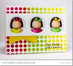 Just the Way You Are, Jumbo Fishtail Banner Day STAX Die-namics, Peek-a-Boo Trio Die-namics, Circle Grid Stencil - Jodi Collins  #mftstamps