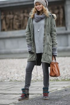 Look Super Fashionable With A Casual Parka Jacket - Fashion Diva Design