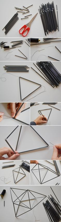 Check out our 15 DIY home deco Cool Diy Projects, Craft Projects, Home Crafts, Diy And Crafts, Mobiles Diy, Diy Tumblr, Geometric Wedding, Idee Diy, Do It Yourself Crafts