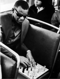 Ray Charles Amazing BW Piano TV Show Retro Music Giant Wall Print POSTER