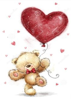 Illustration about Cute bear with big red heart. Illustration of proposal, lovely, marry - 84206783 Tatty Teddy, Teddy Bear With Heart, Love Bear, Cute Love Pictures, Cute Images, Teddy Bear Drawing, Valentines Day Drawing, Teddy Bear Pictures, Crochet Teddy