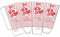 Paper Games To Print Out. Popcorn Box Template