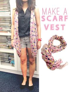 Turn Your Scarf Into a Vest | female
