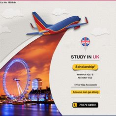Study in UK: Grab the Golden Opportunity of UK Application week Get offer Letter in just 2 days. 👉 Study in 🇬🇧UK🇬🇧 🇬🇧UK🇬🇧 ✅ Without IELTS ✅ With Scholarship ✅ Spouse Can Also Apply. ✅ 100% Success Rate. ✅ Jan Intake 2021 ✅ 5 Year Gap Acceptable ✅ Payment after visa Call :- +91 73079 04905 Visual Advertising, Creative Advertising, Advertising Design, Graphic Design Layouts, Graphic Design Posters, Ad Design, Ads Creative, Travel Design, Instagram Story Template