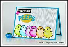 Stampin Up Honeycomb Happiness Peeps card by Sandi @ www.stampinwithsandi.com