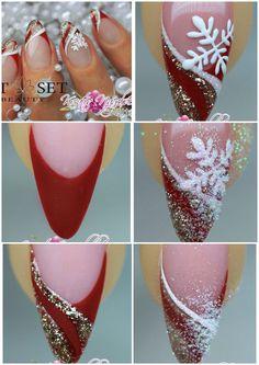 Christmas nails tutorial