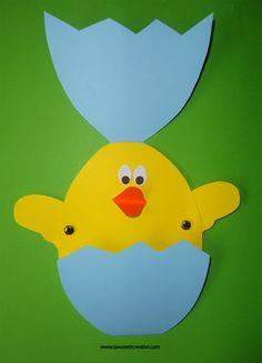 Biglietto di Pasqua fai da te – Uovo con pulcino