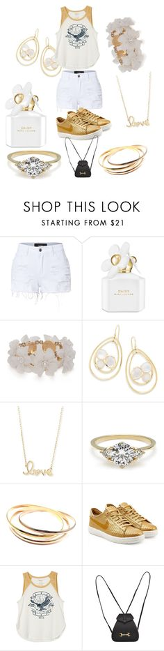 """crazy for fashion"" by sibonokuhlemathe ❤ liked on Polyvore featuring LE3NO, Marc Jacobs, New Directions, Ippolita, Sydney Evan, Cartier, NIKE, RVCA and Gucci"
