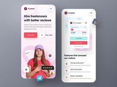 Truststar landing – Mobile Version by Farzan Faruk 👑 for Orizon: UI/UX Design Agency on Dribbble