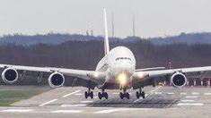 PERFECT AIRBUS A380 CROSSWIND LANDING - GEAR DOWN AND LOCKED (4K)