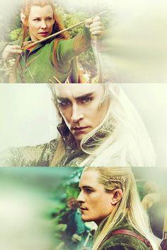 The Hobbit : The Desolation of Smaug: Tauriel, Thranduil, and Legolas
