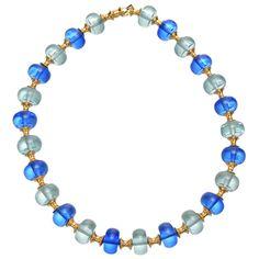 Marina B Aqua & Royal Blue Quartz Bead Necklace - Photo courtesy of Betteridge