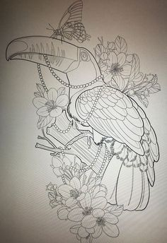 Find the perfect tattoo artist to create the work of art that is you Tattoo Coloring Book, Bird Coloring Pages, Tattoo Sketches, Tattoo Drawings, Art Sketches, Jewel Tattoo, Desenho Tattoo, Tattoo Stencils, Neo Traditional Tattoo