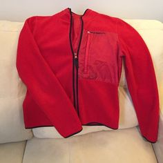 """Ralph Lauren Polo Jeans Fleece Jacket Plush and warm, this makes a great spring or fall jacket. It slimming with only one breast pocket. Great quality, yet it's machine washable. Sleeve length is 24"""" from shoulder to wrist. Breast = 18"""" across Ralph Lauren Jackets & Coats"""