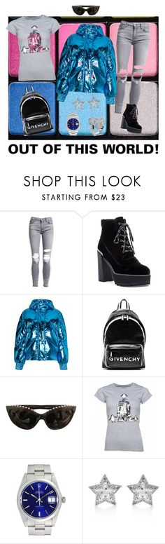 """""""OUT IF THIS WORLD!"""" by lmrod68 ❤ liked on Polyvore featuring Viseart, AMIRI, Stuart Weitzman, Ienki Ienki, Givenchy, Chanel, Rolex and CZ by Kenneth Jay Lane"""