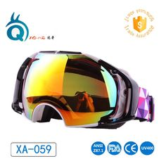 ea8ab1b13b64 2017 Best Quality Popular Mirrored Lens Snowboard Winter Ski Sports Goggles  lens skiing goggles anti-