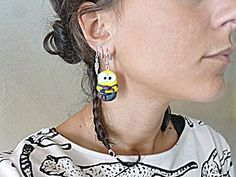 DIY minions earrings, made with Fimo (and love, obviously). #fimo #earrings #diy #minions #handmade #onlineshop #etsy #shop #craft #clay #inspiration #style #love #ideas