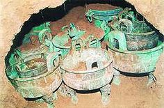Top Ten Archaeological Discoveries of 2003 - China culture. Bronze-ware in Yangjia Village, Meixian County, Shaanxi Province.