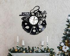 Pizza Lp Retro Vinyl Record Wall Clock Vintage Pizza Clock Food Art Handmade Gift Idea For Adult Wal Идеи На День Рождения, Ремесло, Часы, Manualidades