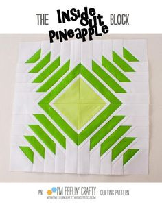 Inside Out Pineapple Block | Craftsy