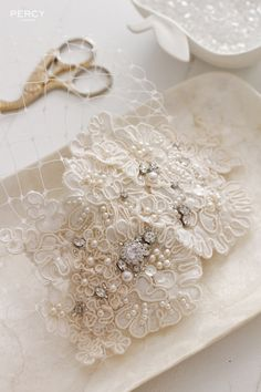 Penelope vintage wedding headpiece