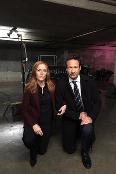 The X-Files: Gillian Anderson, David Duchony #TakeAKnee