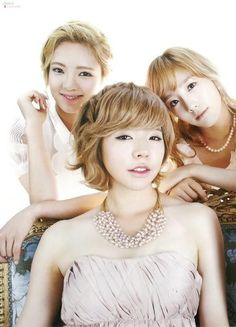 Hyo, Sunny and Tae in High Cut magazine (Blonde shorty trio LOL)