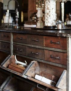i love this style of drawers.