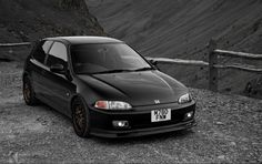 BLACK #CIVIC #HONDA