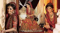 Love this bridal lehenga by Tarun Tahiliani. Love the head piece as well! Desi Bride, Asian Bridal Dresses, Indian Dresses, Pakistani Bridal, Bridal Lehenga, Faryal Makhdoom Wedding, Dulhan Dress, Bollywood Wedding, Walima