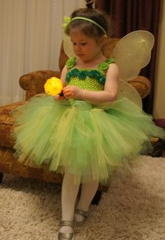 DIY Tinkerbell Costume Tinkerbell Costume Toddler, Tinker Bell Costume, Kids Frocks, Saving Ideas, Diy Costumes, Diy For Kids, Fairies, Tutu, Flower Girl Dresses