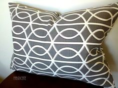 Dwell Studio Bella Porte Charcoal Pillow Cover by thfabricate, $25.00