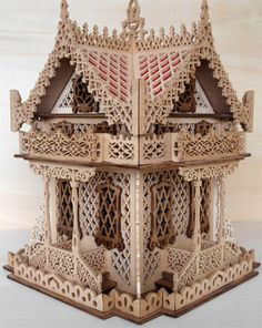 Chalet box, scroll saw fretwork pattern